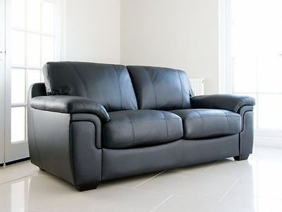 amy 3 2 faux leather sofas in black or brown maymuncouk
