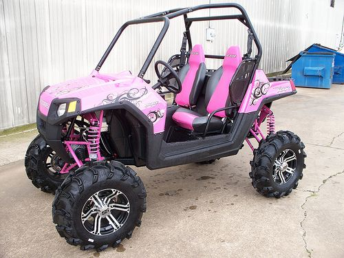 Awesome girly ATV....I would have soo much fun with this!;)