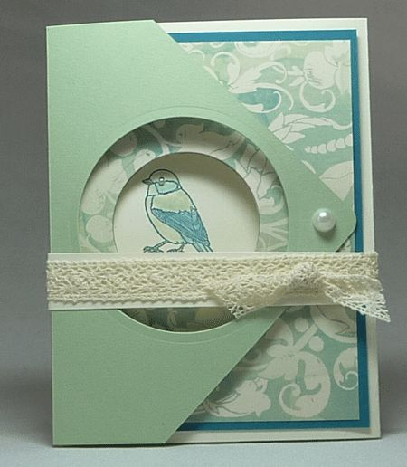 Backyard Basics Fancy Fold Card with Eastern Elegance Paper Sample #2 Closed