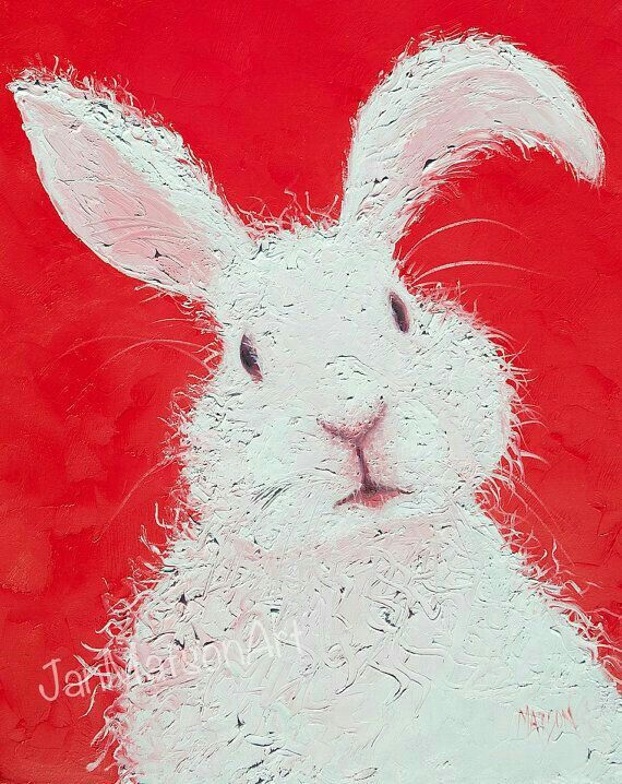 Lovely bunny painting.