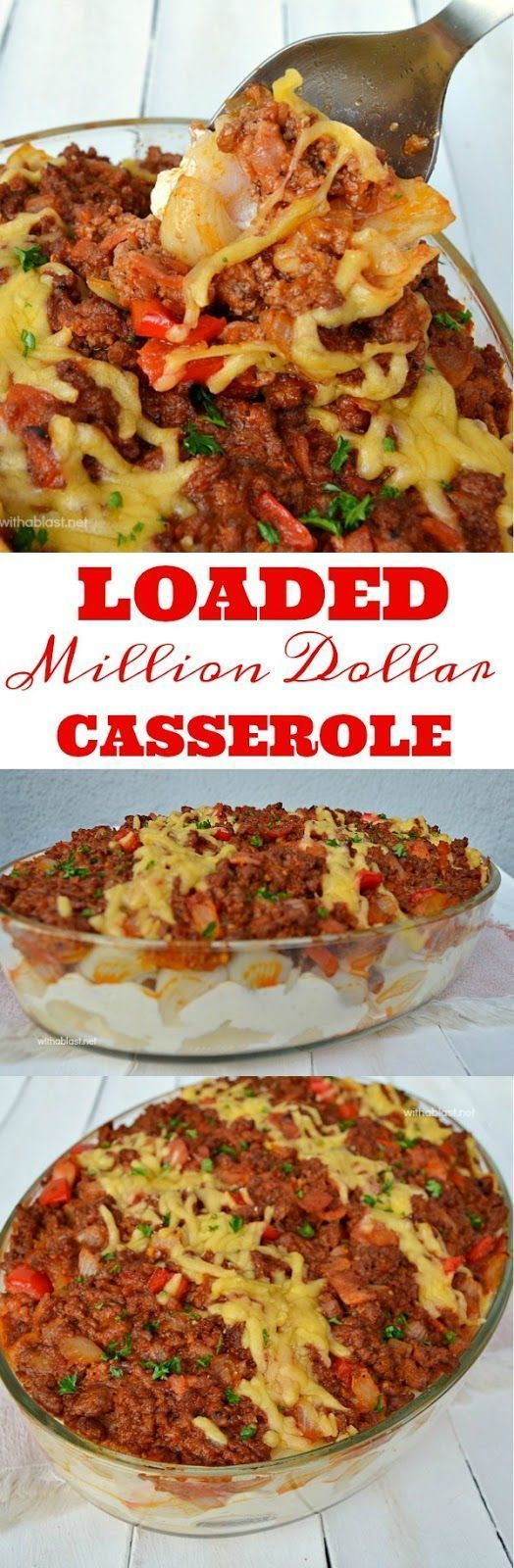 Comfort food ! Pasta, beef / bacon, cream cheese - 6-8 Servings #Casserole #ComfortFood