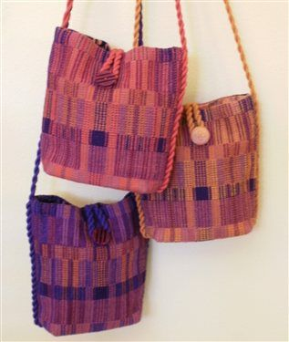 four shaft crackle weave bags