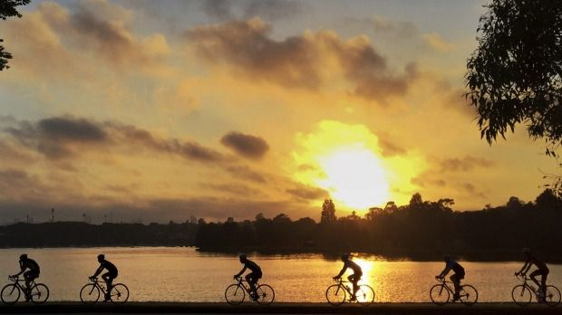 The Bay Run is one of Sydney's most popular harbourside cycle tracks for a good reason. The flat 7km track follows the Iron Cove foreshore through