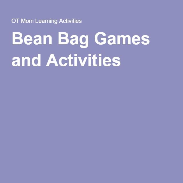 Bean Bag Games and Activities
