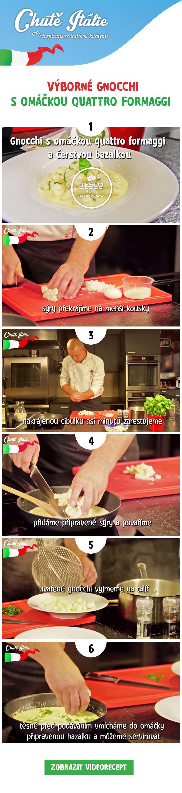 Připravte si italské gnocchi s omáčkou quattro formaggi!