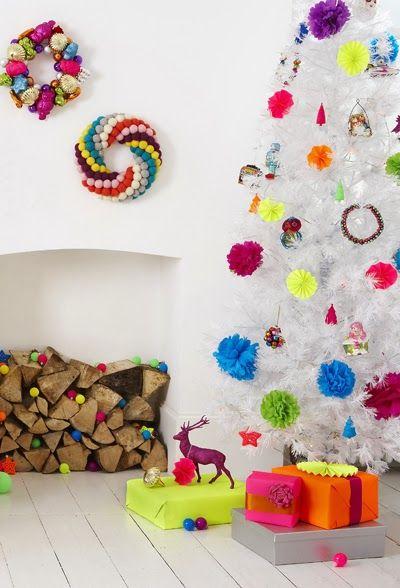 colorful christmas decor via print & pattern