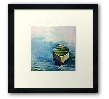 Lonely boat Framed Print.