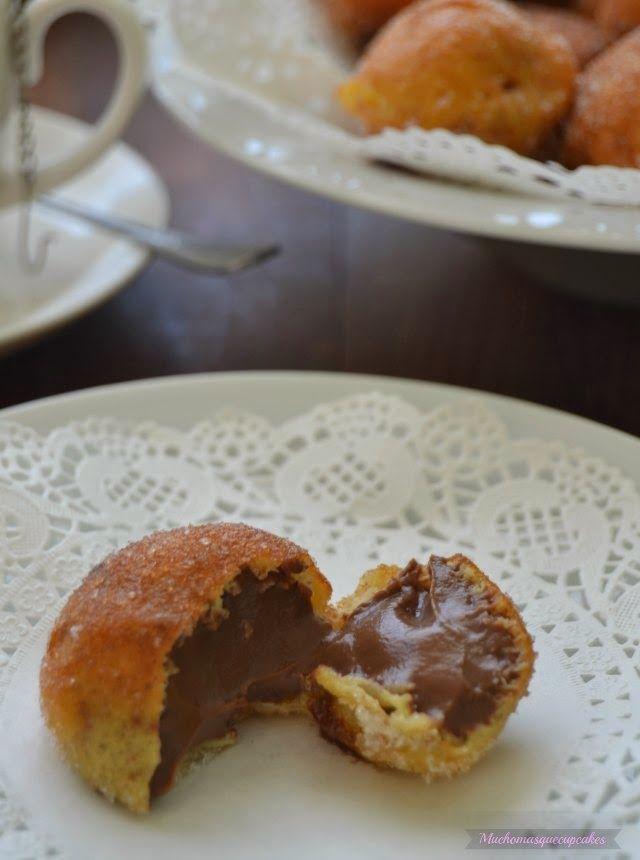 Muchomasquecupcakes: Buñuelos de viento rellenos de chocolate (Receta típica de Todos los Santos)