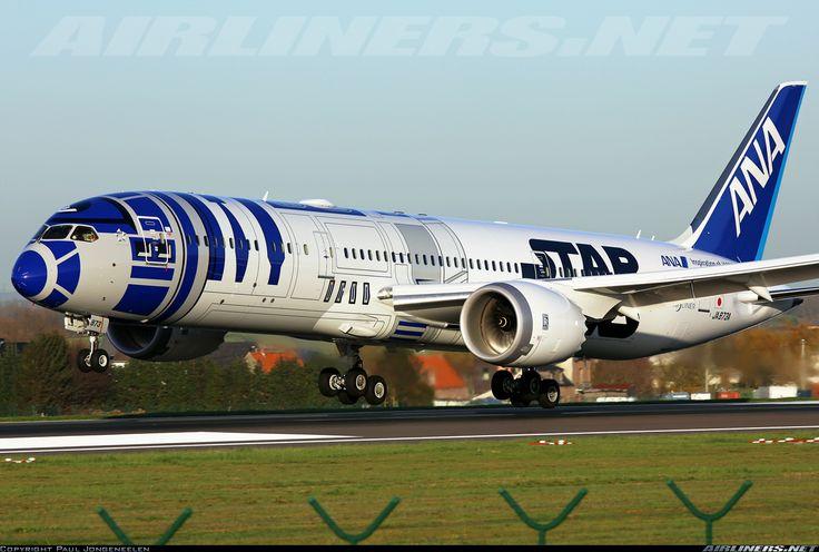 "All Nippon Airways (ANA) Boeing 787-9 Dreamliner  JA873A (cn 34530/345) ""Star wars"" landing on 25L"