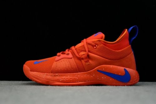 super popular 316be 77366 Newest Nike PG 2 Team Orange Signal Blue Mens Basketball Shoes For Sale -  ishoesdesign