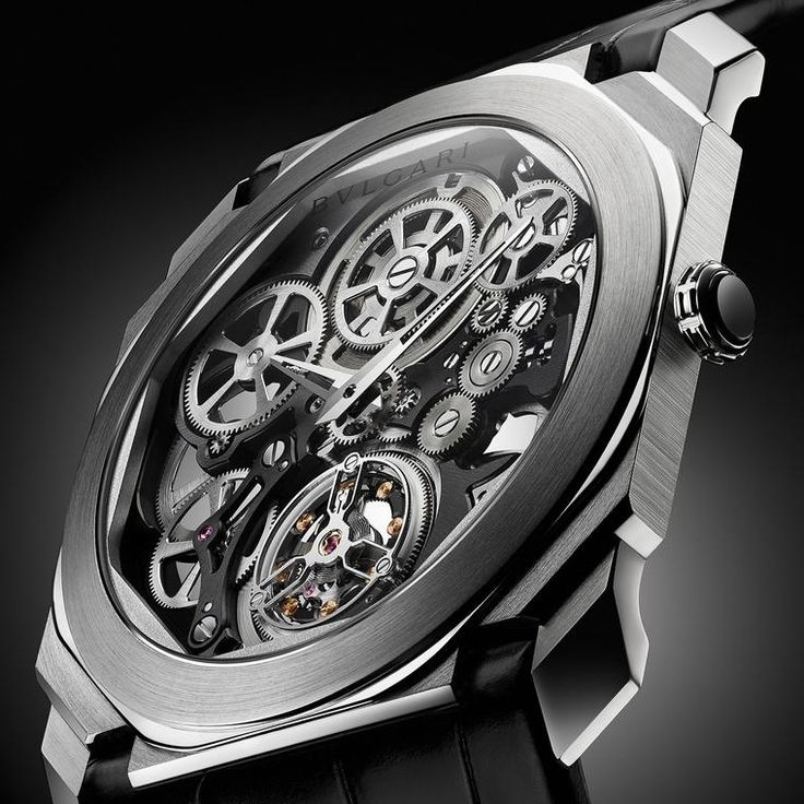 Bulgari skeletonises its famous Octo Finissimo Tourbillon watch, the world's thinnest tourbillon movement to date, and offers a full view of the manual-winding movement.  Welcome to the thinnest automatic movement in the world: Bvlgari's record breaking watch for men: http://www.thejewelleryeditor.com/watches/article/bulgari-world-record-breaking-watch-automatic-movement-thinnest-in-world/ #watches