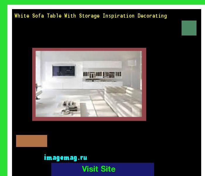 White Sofa Table With Storage