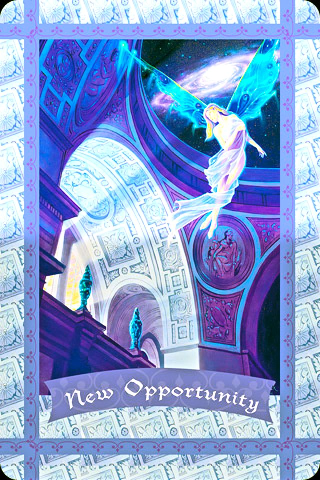 Daily Angel Oracle Card Celebration From The Guardian: Daily Angel Oracle Card: New Opportunity, From The Healing