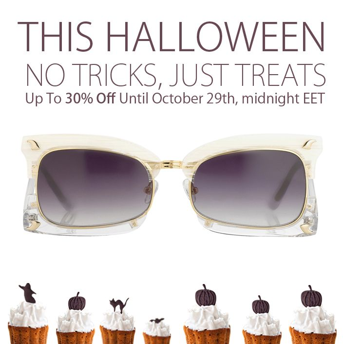Pick your Halloween eye-candy from our special curated gallery and delight yourself with up to 30% off on your favorite styles!  Shop here: http://bit.ly/halloween-sunglasses-promotion  #sunglasscurator #treatsnotricks #prabalgurung