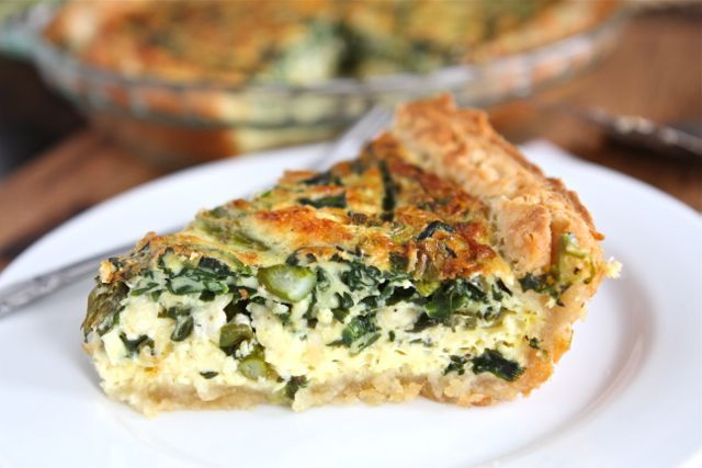 Asparagus, Spinach and Feta Quiche.....for breakfast, lunch or dinner <3