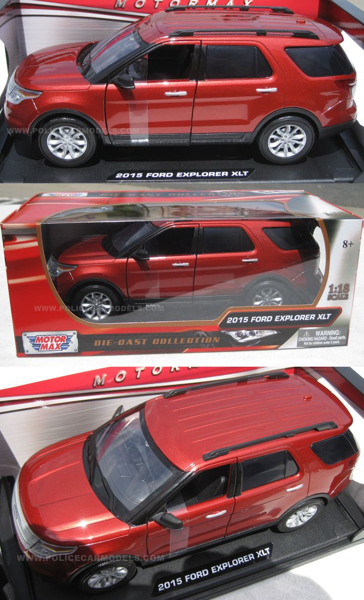SUVs: Motormax 1/18 Red 2015 Ford Explorer Xlt Suv - Civilian Street Version BUY IT NOW ONLY: $33.95