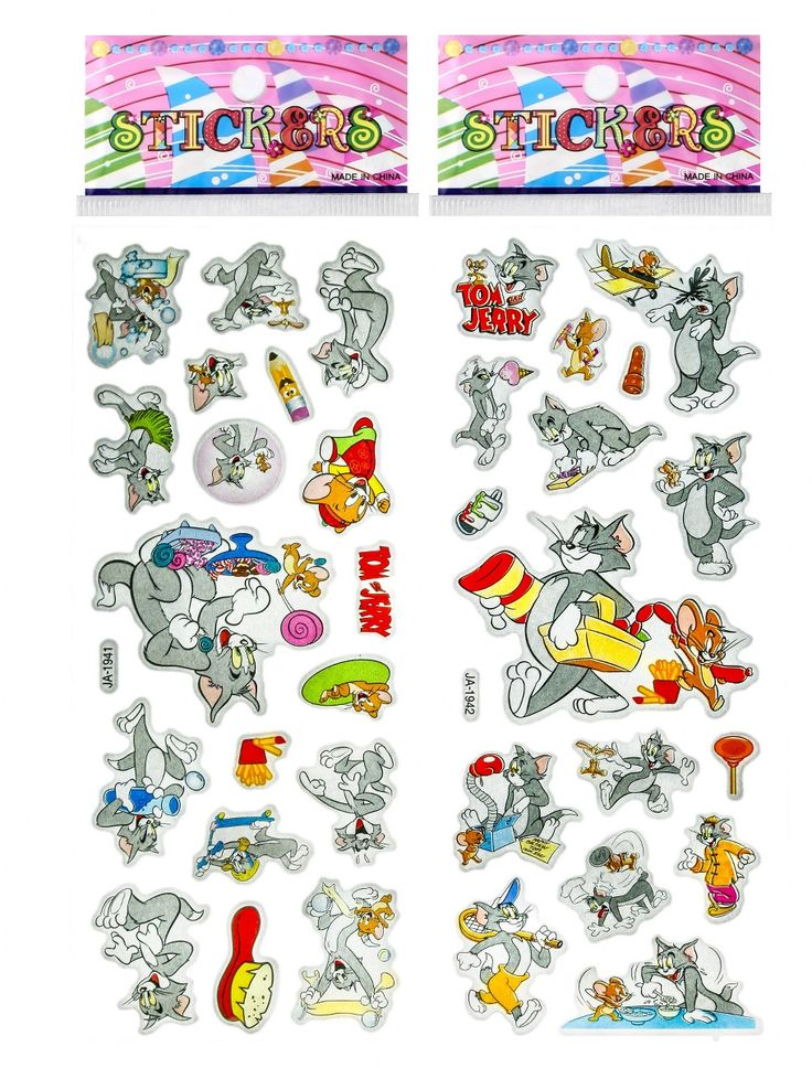 Tom and Jerry Puffy Stickers