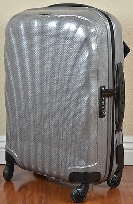 "Samsonite Cosmolite 20"" SILVER Carry on Spinner Luggage 4-wheeled 60530 DEMO"