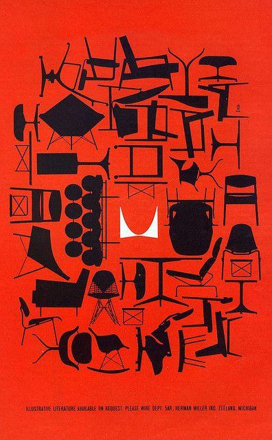 1961 Herman Miller advert via MidCentArc on Flickr.