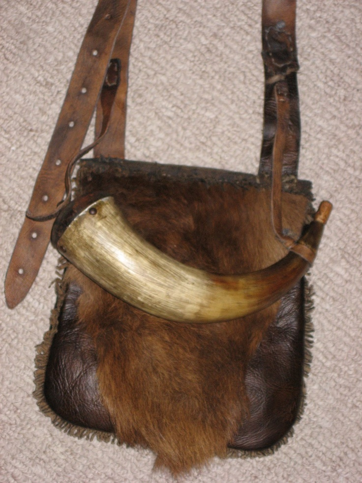 Hunting Pouch by Shawn Webster - FRONTEarly Small, Early Gentleman, Firearms Accessories, 19Th Century, Leather Hunting, Hunting Bags, Man Caves, Hunting Pouch, Early Gentlemens
