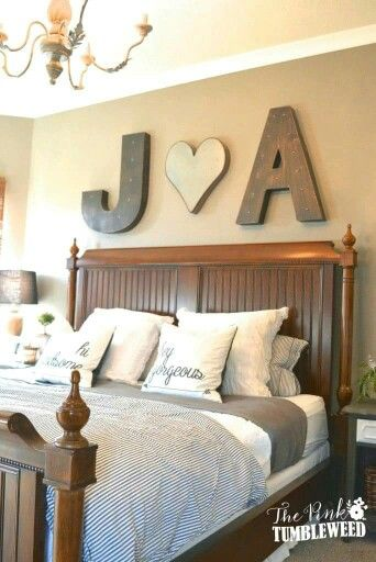 Love this too! Possibly could do letters for the kids rooms too.