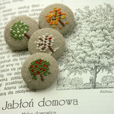 Bela Stitches: buttons / Fabric Covered Buttons
