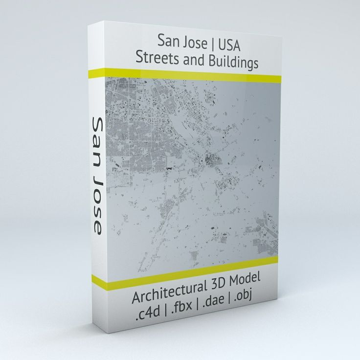 San Jose Streets and Buildings Architectural 3D Model