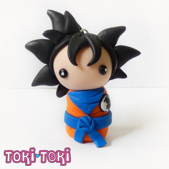 Goku Chibi Dragon Ball Z Polymer Clay figurina di MadeByTokiToki