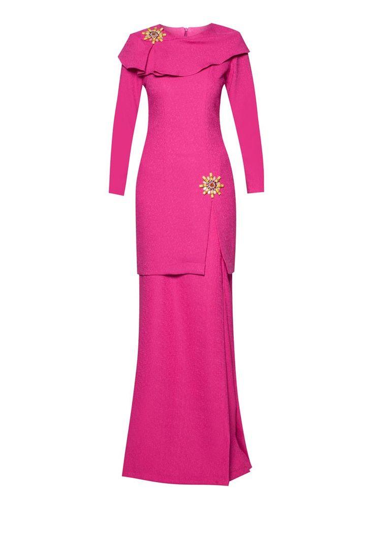 Kaila Baju Kurung from Jovian Mandagie for Zalora in pink_6