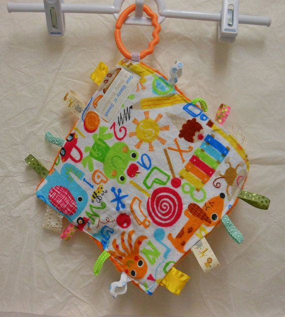 Crinkle Taggy Sensory Toy Lovey
