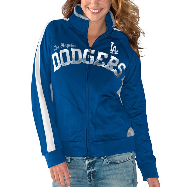 Dodgers womens track jacket