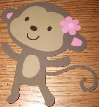 12 Jungle Jill Monkey Baby Shower Decorations All por DebbysCrafts