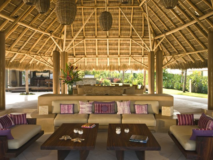 Palapa Designs | The palapa provides an extensive, shaded lounge area.