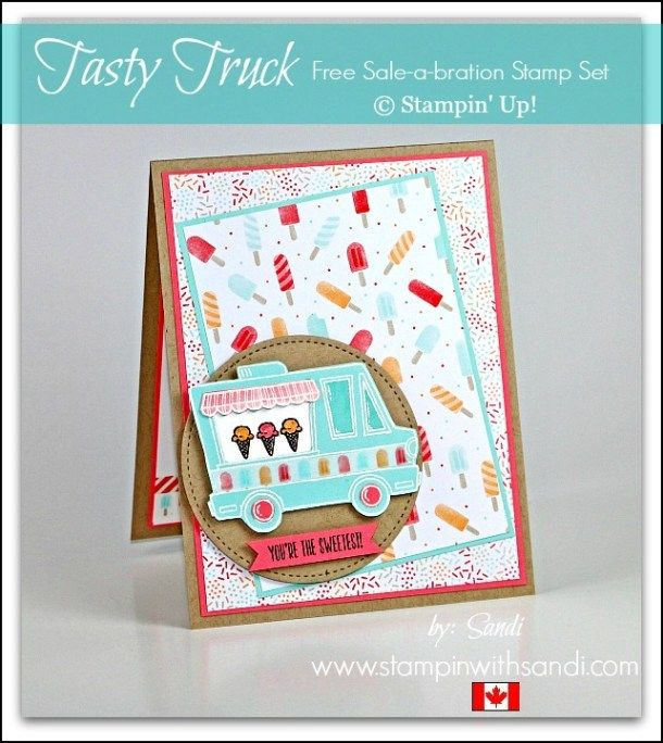 Tasty Truck Sale-a-bration Stamp Set card by Sandi at stampinwithsandi.com