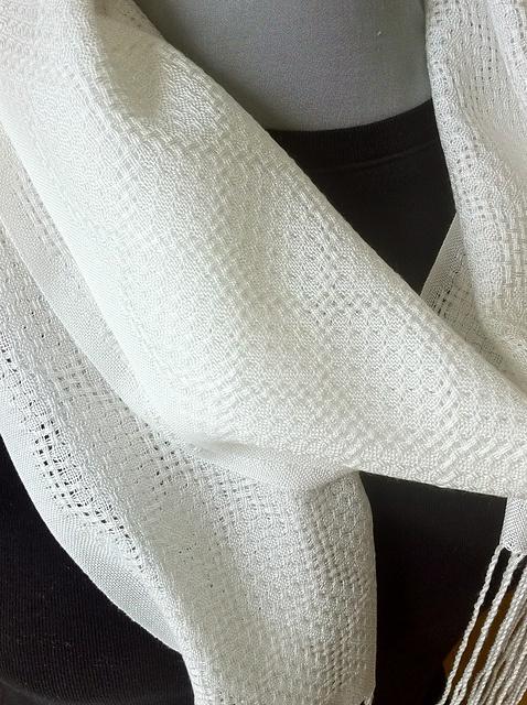 Ravelry: dorothylochmaben's Huck Tencel Scarves