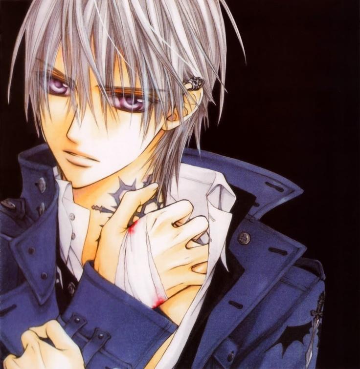Anime guy with purple eyes and bandaged hand. | Stuff ...