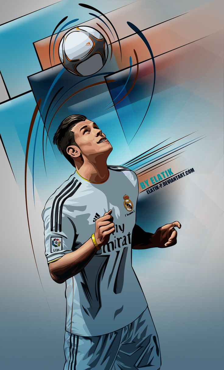 Gareth Bale real madrid by elatik-p.deviantart.com on @DeviantArt