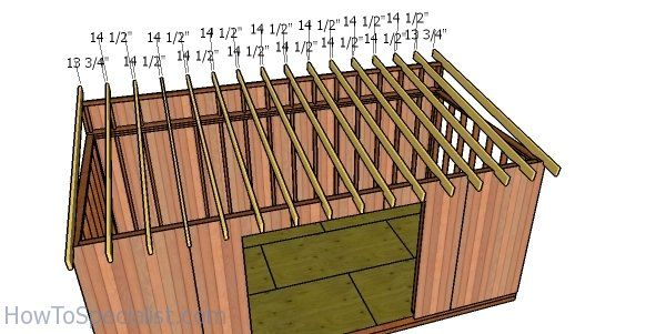 10x20 Lean To Shed Roof Plans Howtospecialist How To Build Step By Step Diy Plans Roof Plan Shed Roof Lean To Shed