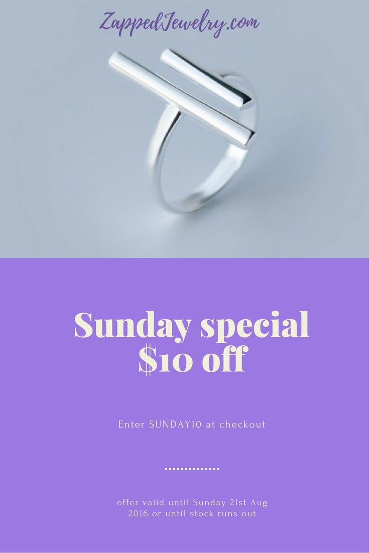Sunday Special - $10 of this stunning ring. LIMITED STOCK so get in quick!. use code SUNDAY10 at checkout