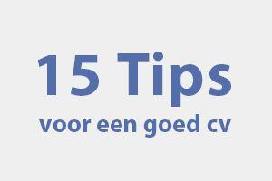 15 tips voor een goed cv