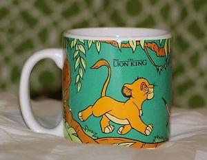 RARE-Disney-The-Lion-King-Vintage-Mug-Simba-Timon-Pumbaa-Walking