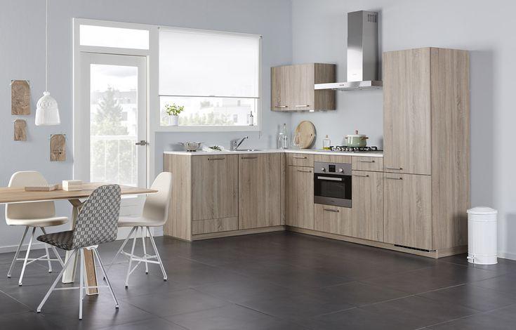 Keuken Kleur Grijs : Atlas keuken in de kleur ruw eiken grijs. ONZE KEUKENS Pinterest
