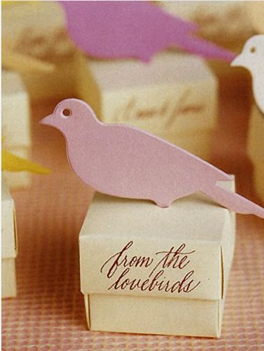 Bird wedding favor boxes