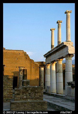 Forum, sunset. Pompeii, Campania, Italy (color)