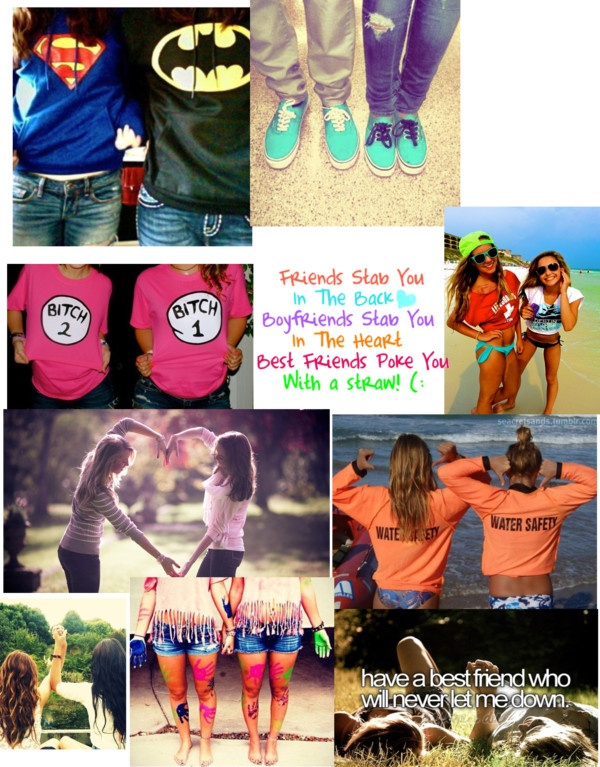 """Best Freinds"" by myl0velyb0nes ❤ liked on Polyvore I love that I have more than one best friend:) you guys know who you are<3"