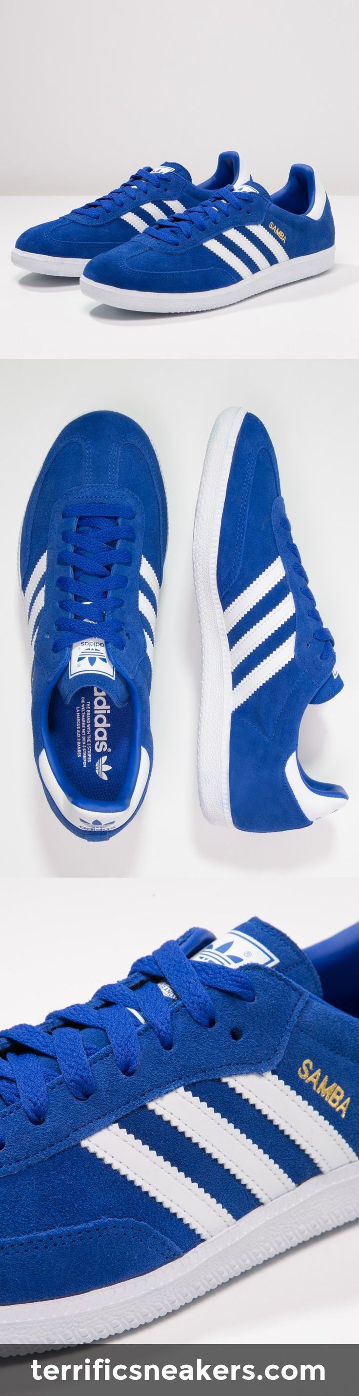 fucking awesome: adidas Originals SAMBA Sneaker bold blue/white/gold #Sneakers