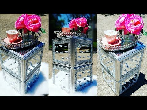 Best Glam Mirrored Bling Side Coffee Table Diy Dollar Tree 400 x 300