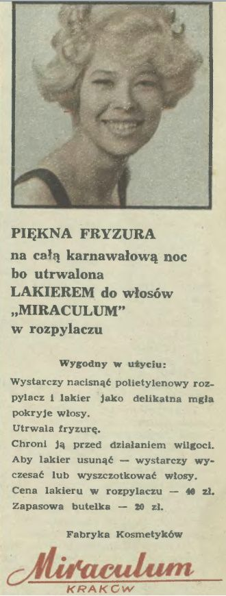 Atqa Beauty Blog :: Polietylenowy rozpylacz. Reklama prasowa, 1970.