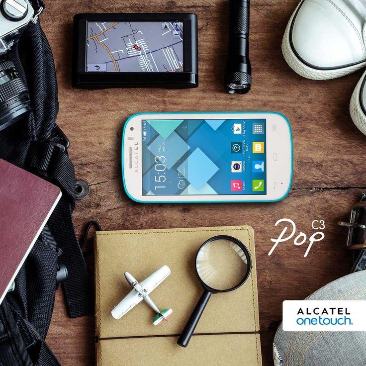 Que el Alcatel Onetouch Pop C3 y su liviano diseño sean tus mejores compañeros de viaje.
