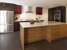 AyA Kitchens | Canadian Kitchen and Bath Cabinetry Manufacturer | Kitchen Design Professionals - Cirrus Clove Wenge & Honey Zebrano in Urban Moda